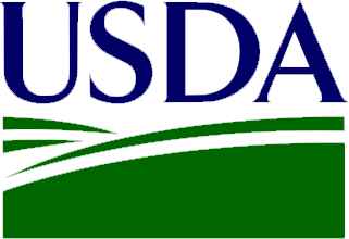 USDA logo set as button link